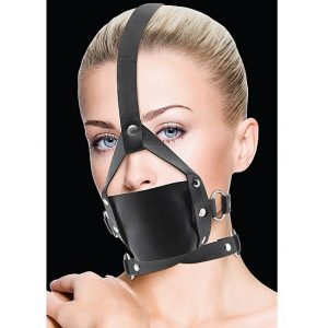 OUCH LEATHER MORDAZA NEGRO CON AJUSTES
